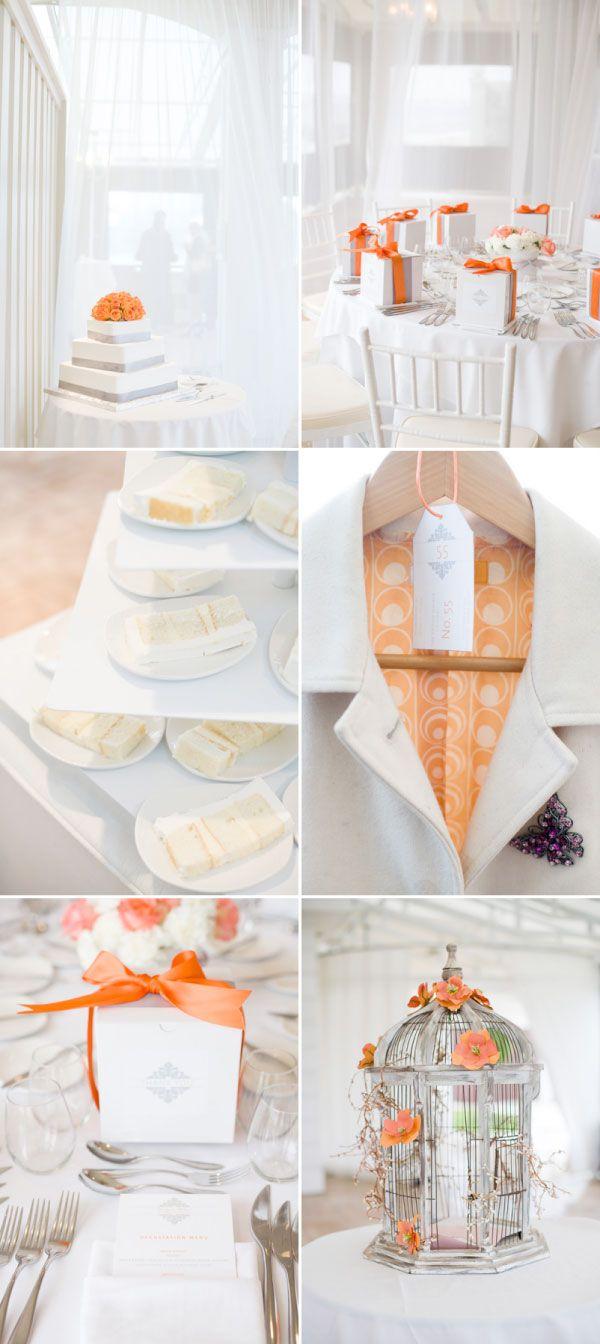 67 best Wedding colour themes- orange and white images on Pinterest ...