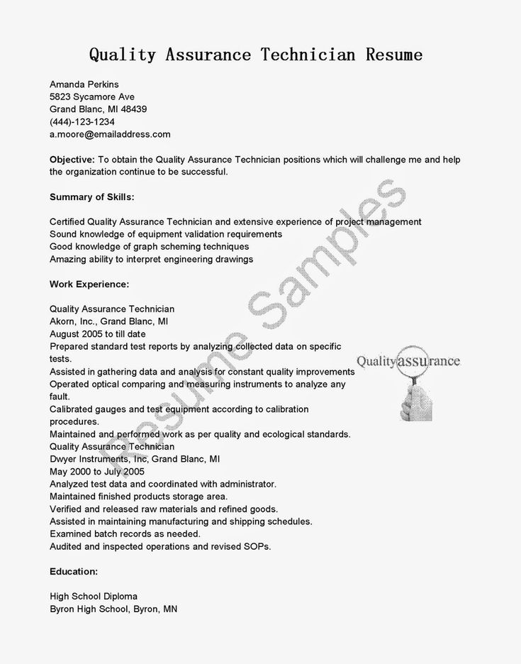 Quality assurance pharma resume objective examples