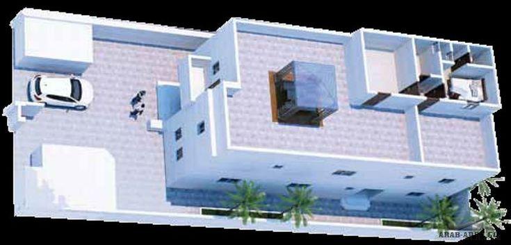 خريطة فيلا دانيا مساحه الارض 426 مساحة البناء 440 متر مربع Arab Arch House