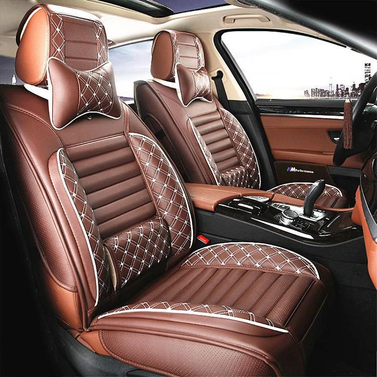 Luxury Full Set Leather Car Seat Cover Universal Seat