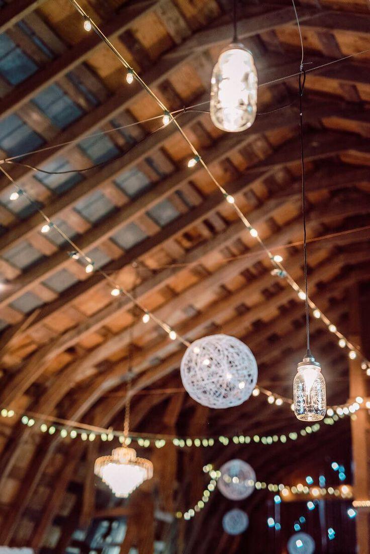 Vintage Boho Inspired Barn Wedding - Lighting decor