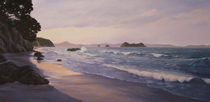Oil on canvas, 'Coromandel, NZ' by Jane Sinclair