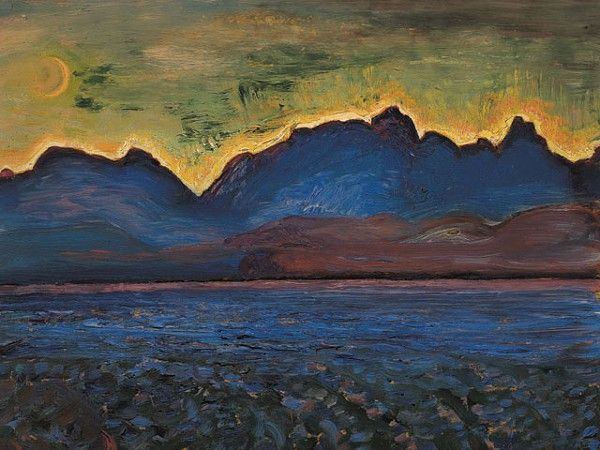 "poboh: "" Dusk, Tantalus Range, ca 1929, Frederick Horsman Varley. Canadian (1881 - 1969) - Oil on Panel - """