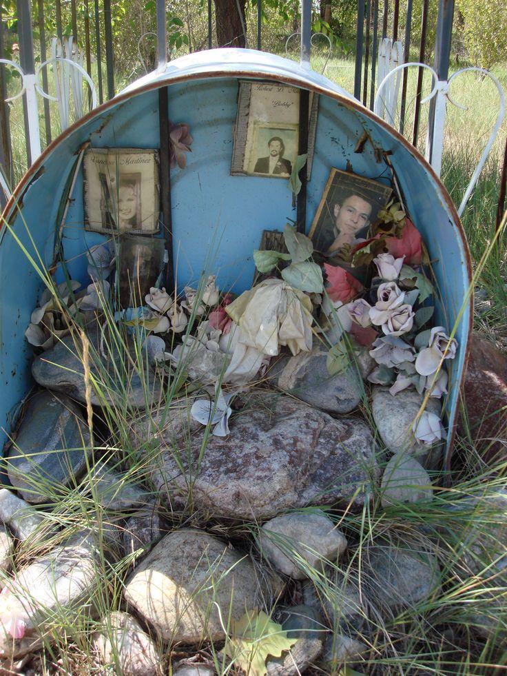 shrine/altar in a wash tub. Love it.