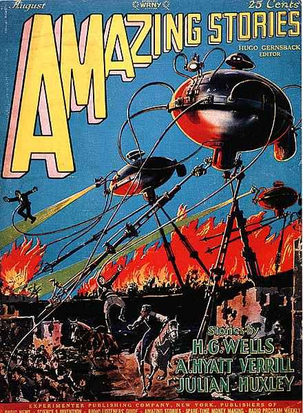 War of the Worlds - Amazing Stories, Vol. 2 (No. 5), 1927, English. Cover by Frank R. Paul