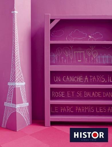 Think pink, met alles in dezelfde kleur wordt het minder zoet én alle kleuren zijn mengbaar in schoolbordverf.
