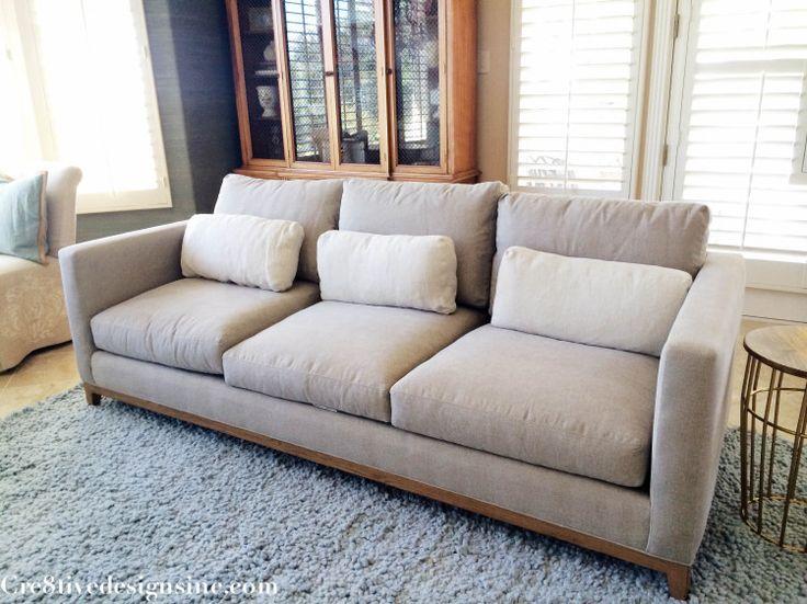 Crate and Barrel Taraval 3 seater sofa