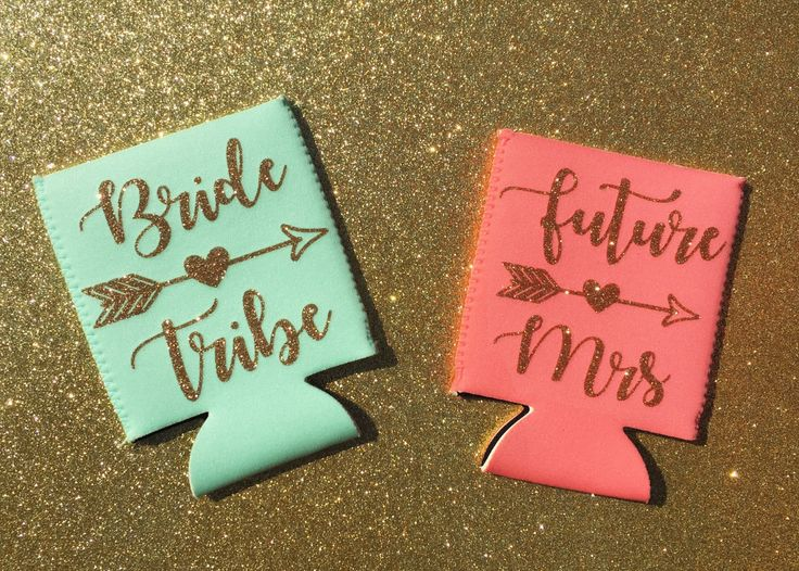 Glitter Bachelorette Party Favors, Sparkly Can Holder, Neoprene, Personalized, Party Favor, Custom Can Holder, Bridesmaid Gift, Bachelorette by My3BirdiesShop on Etsy