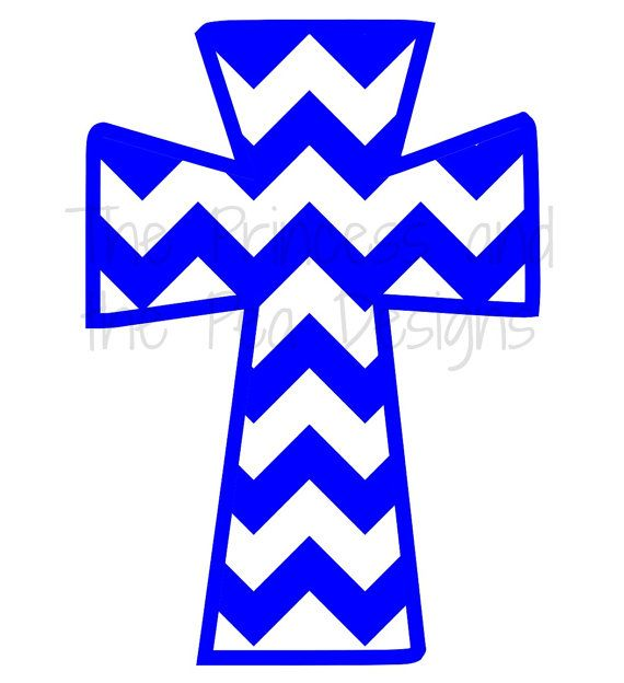 Chevron Cross Vinyl Decal Sticker Christian by ThePrincessDesigns