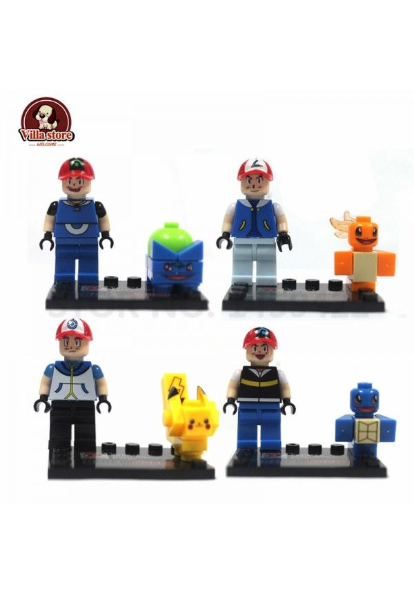 Set Pokemon Squirtle Charmander Pikachu Bulbasaur Pokemon Minifiguras Lego Compatible