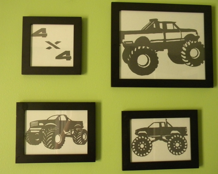 Again super easy, did monster truck for my son room!