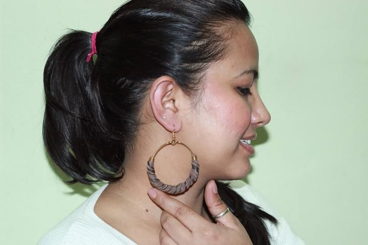 Blogger Jiya from Shopping, Style and US (Shoppingaholic's Confession) looks cute with these #W earrings.   Do explore our #jewellery section here : http://bit.ly/wearrings