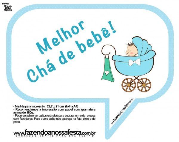 Plaquinhas Divertidas Chá de Bebê Menino 11