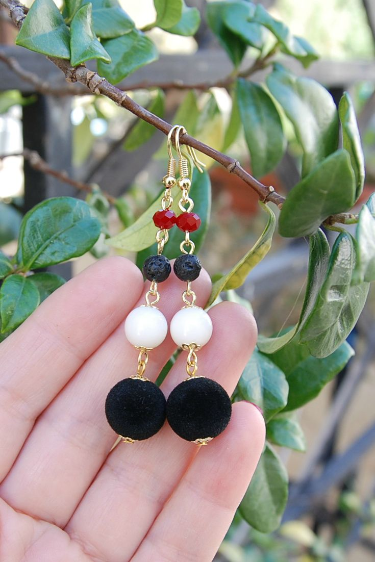 Christmas Earrings, Holiday earrings, Statement earrings, Stocking Stuffer for Women, Elegant Earrings, Ball Drop Earrings, Bon Bon earrings, Les Bonbons, Festive Earrings, Festival Earrings, Holiday Earrings, Long Earrings, Black and gold earrings