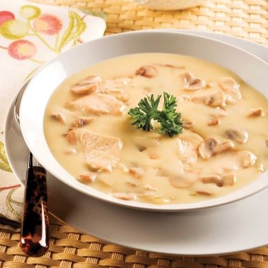 Crème veloutée au poulet et champignons - Recettes - Cuisine et nutrition…