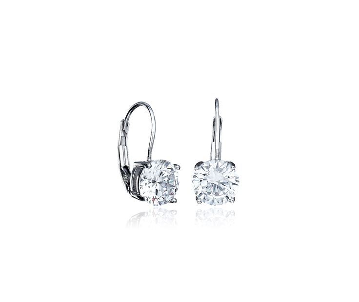 These CRISLU Classic Leverback Earrings are a staple in any woman's jewelry box! These dazzling earrings are great when you want to add a little extra flair to your look!