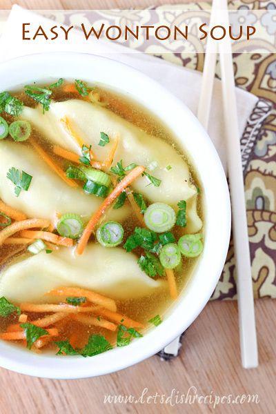 Easy Wonton Soup Recipe on Yummly. @yummly #recipe