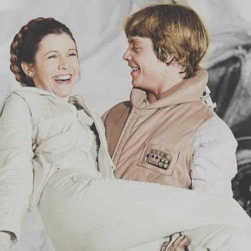 retrostarwarsstrikesback:  Carrie Fisher and Mark Hamill on the set of Empire Strikes Back @retrostarwarsstrikesback