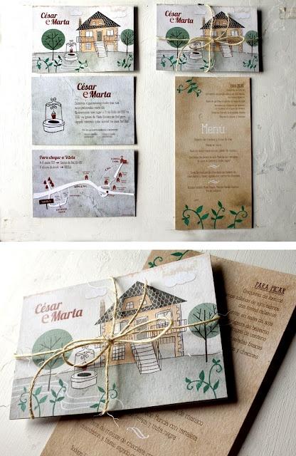 Invitaciones de boda por Nuria Diaz  www.nuriadiaz.es