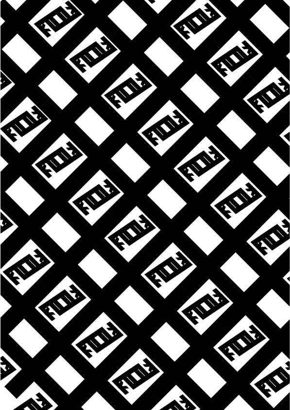 """DTL Nobel, Sjoerd de Roos & Dick Dooijes, 1929, pattern 1 (bn), """"schematico"""", , T condensed Bold, ho creato un patter per sottolineare lo stile schematico del font e la sua praticità."""