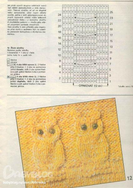 Известные косы - новые совушки. Вязание спицами (9) (425x600, 223Kb)