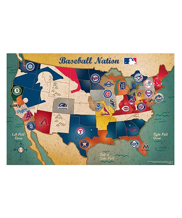 Take A Look At This Mlb Usa Map Puzzle On Zulily Today Gift: Map Of Usa With Mlb Cities At Usa Maps