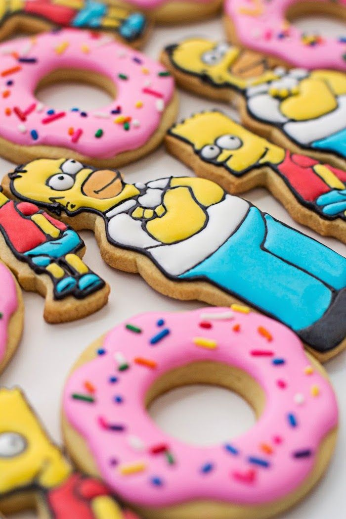The Simpsons themed birthday party with SUCH AWESOME IDEAS via Kara's Party…