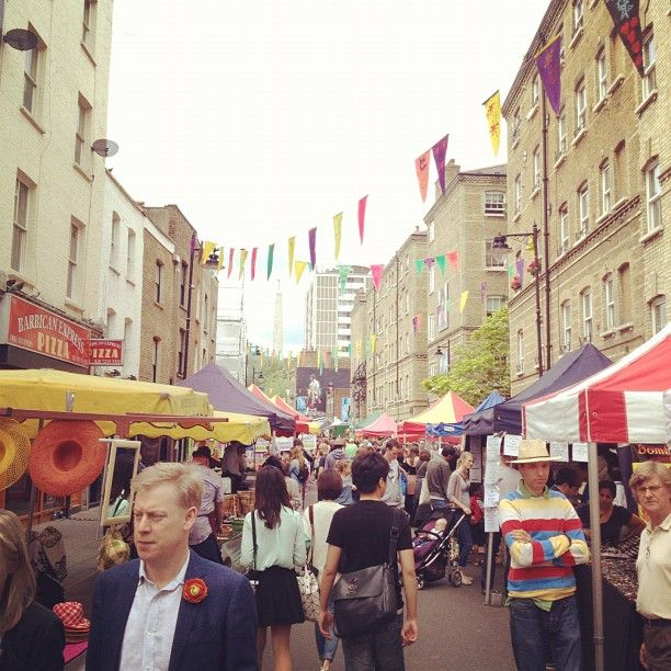 Whitecross Street Market in London, Greater London. Monday to Friday 10am – 5pm (food generally close earlier)