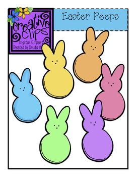 {Free} Easter/Spring Bunny Peep Clipart! Check out my other coordinating spring sets! Personal and commercial use.