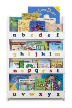 Tidy Books The Childrens Bookcase White Lowercase From Our Bookcases