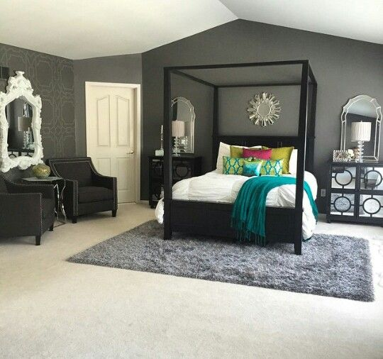 Silver Accent Wall Bedroom Bedroom Colors Brown Furniture Bedroom Furniture Paint Traditional Master Bedroom Decorating Ideas: 71 Best Post & Beam Images On Pinterest