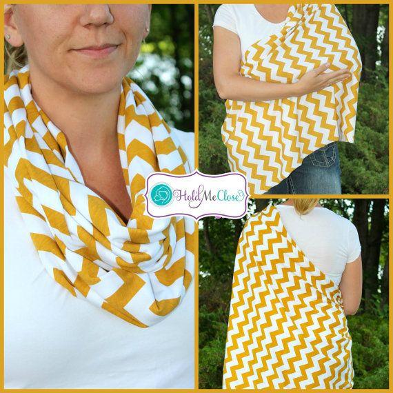 Mustard Yellow Hold Me Close Nursing Scarf, Nursing Cover, Infinity Scarf,