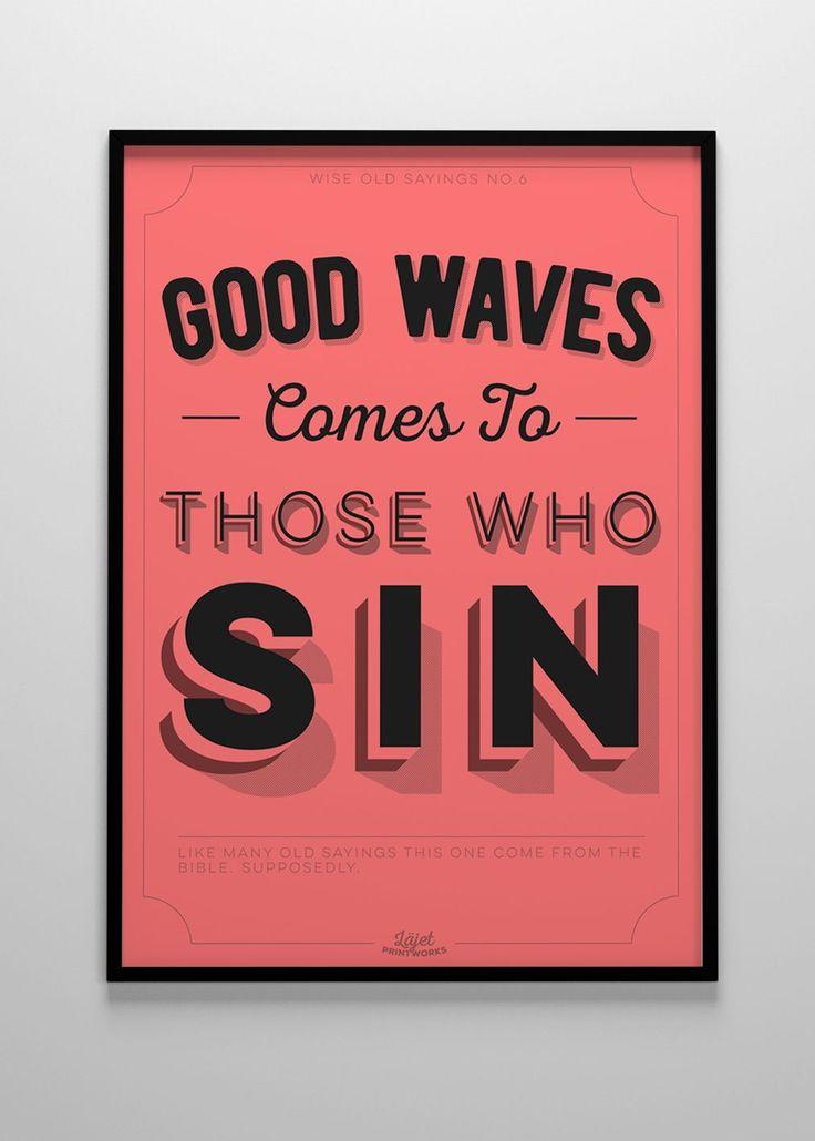 Läjet Printworks - Good Waves 50x70