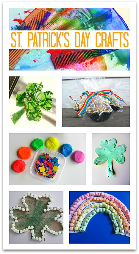 Great collection of EASY St.Patrick's Day Crafts for kids. Rainbow crafts for preschool