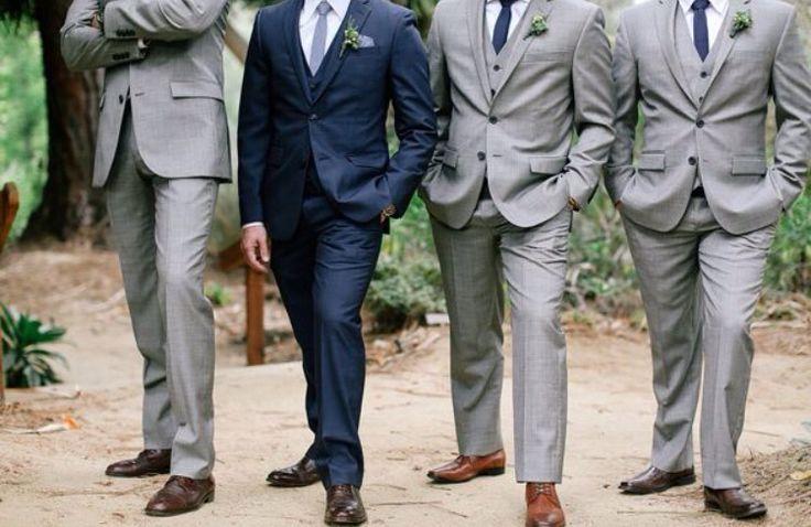 Groomsman and groom