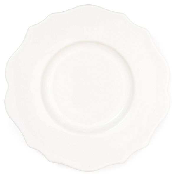One Kings Lane - An Affair to Remember - S/4 Baroque Salad Plates, White