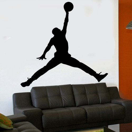 Wonderful Michael Jordan Jumpman 6 Foot X 6 Foot XL Vinyl Wall By Kisvinyl, $84.99  Vinyl Part 6