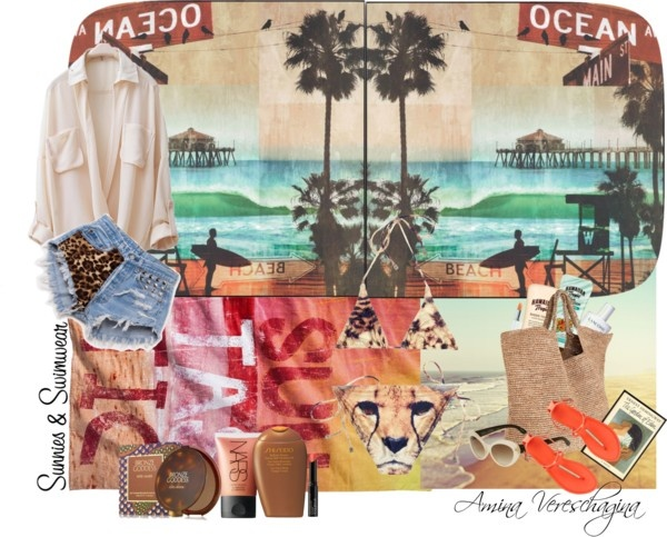 """Wild beach!"" by aminavereschagina ❤ liked on Polyvore"