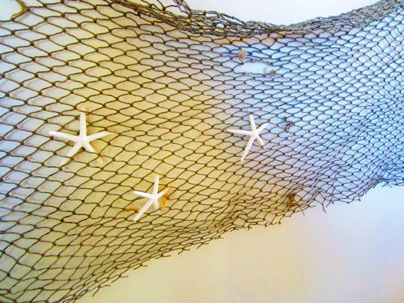 Fish Net 3x5 ft-Vintage Fish Net-Fish by MermaidCoveGiftShop