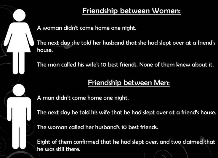 friendship between men and women essay It is not limited to the age, sex and position of the person means friendship can be between men and women, men and men friendship essay 2 (150 words) friendship is the most valuable relationship in the life of a person instead of having many important things in life.