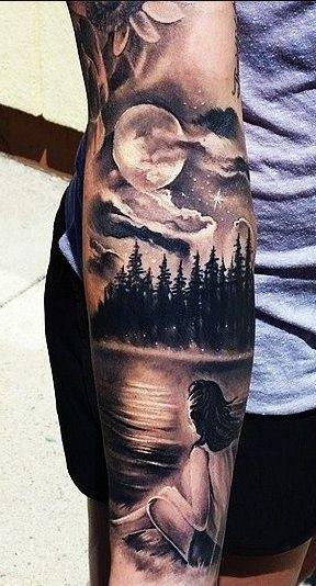 """Enjoying The View"" Arm Tattoo tatuajes | Spanish tatuajes |tatuajes para mujeres | tatuajes para hombres | diseños de tatuajes http://amzn.to/28PQlav"