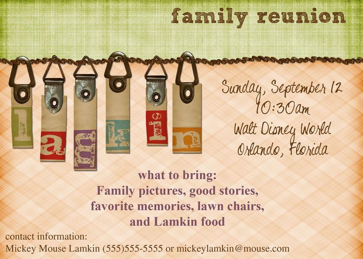 24 best Futch family reunion images on Pinterest Family meeting - family gathering invitation wording