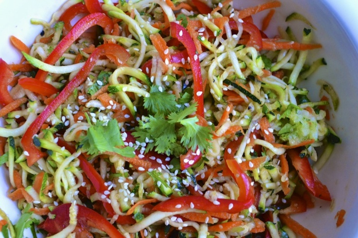 Week 32: Raw Zucchini Salad with Sesame Ginger Sauce by BIG EATS tiny kitchen