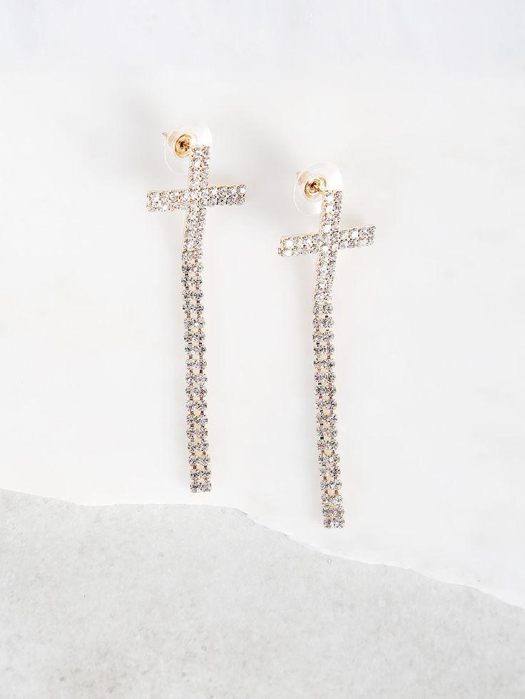 Shop Diamond Cross Earrings GOLD online. SheIn offers Diamond Cross Earrings GOLD & more to fit your fashionable needs.