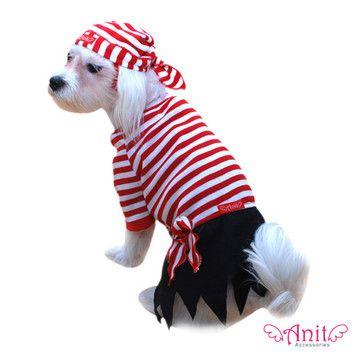 Anit Accessories Pirate Dog Costume