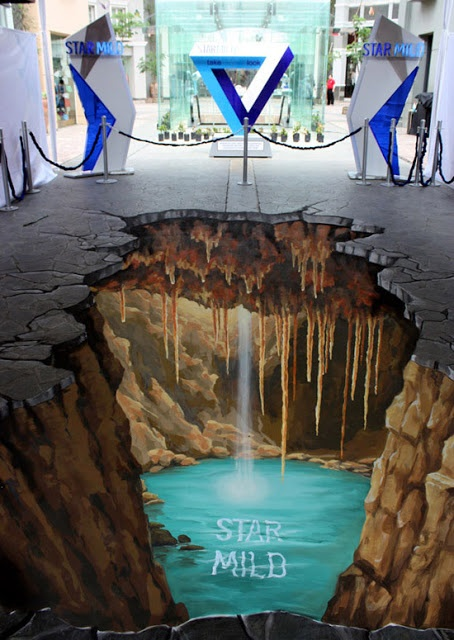 I love these street art painting. It looks so real and true. I'm sure no one makes a step forward :-)