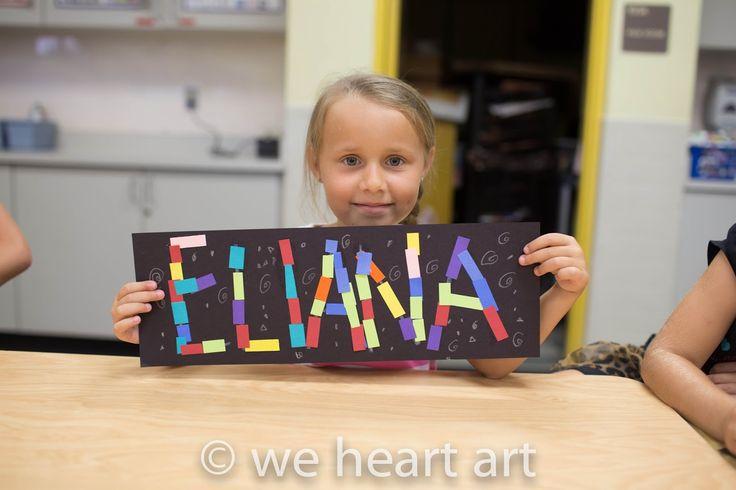 we heart art: mosaic names