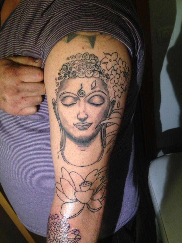 Buda Tattoo in progress