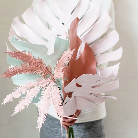 DIY painted tropical foliage