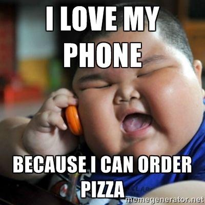 fat joe memes | ... MY PHONE BECAUSE I CAN ORDER PIZZA - fat chinese kid | Meme Generator